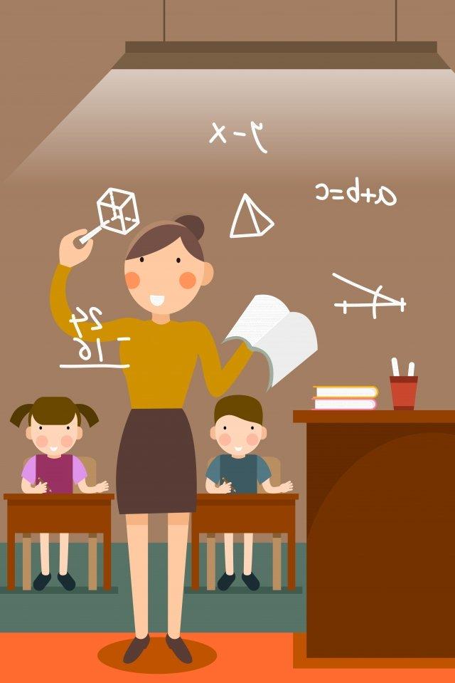 día del maestro profesor estudiante de matemáticas Imagen de ilustración