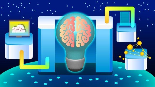 प्रौद्योगिकी मस्तिष्क बुद्धिमान पृष्ठभूमि चित्रण छवि