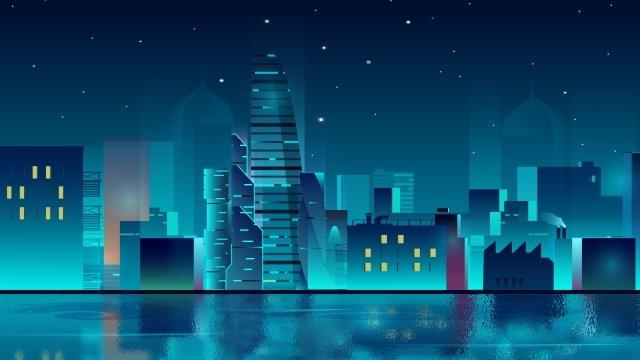 alta tecnologia dellillustrazione stereo della città della tecnologia Immagine dell'illustrazione