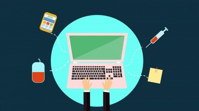प्रौद्योगिकी कंप्यूटर प्रगति प्रौद्योगिकी चित्रण छवि