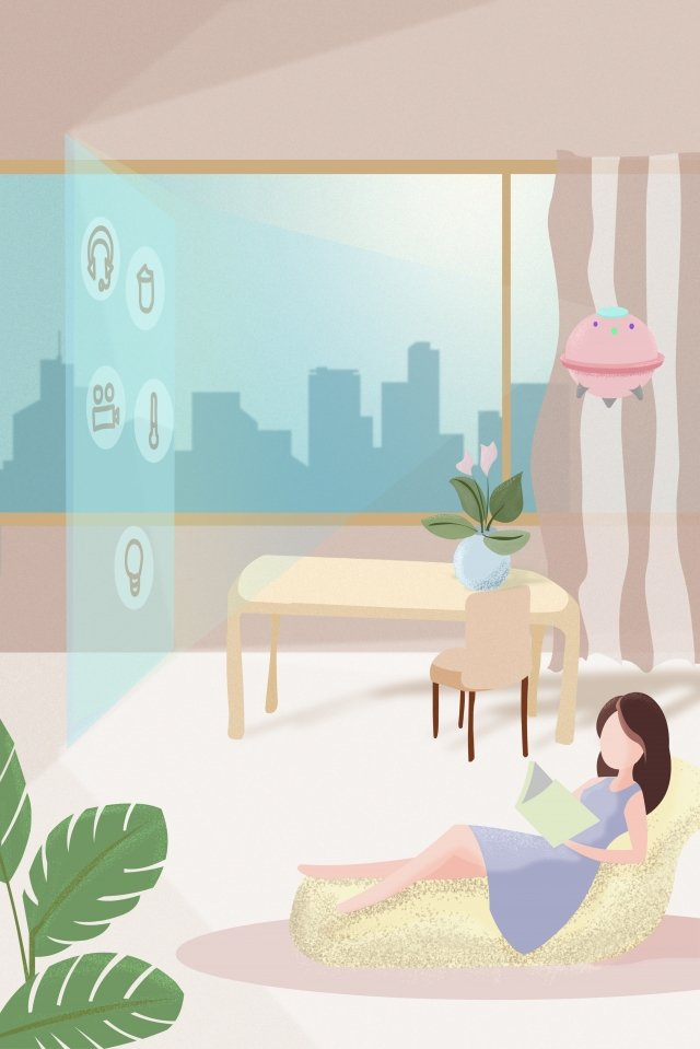 technology life future home, Robot, Intelligent, Projection illustration image