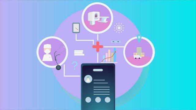 technologia nowoczesny gradient medyczny obraz llustration