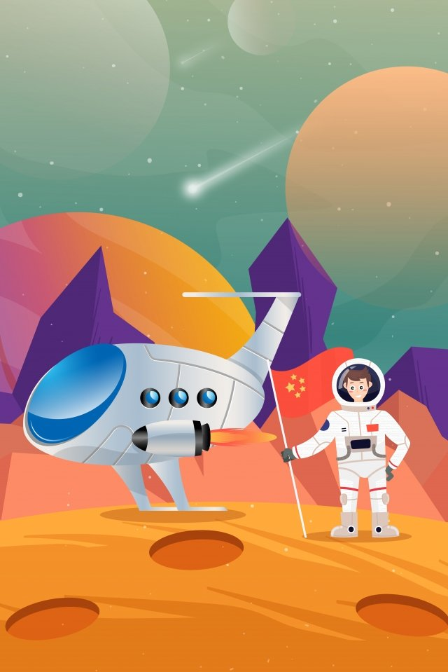 technology universe astronaut outer space, Spaceship, Spacecraft, National Flag illustration image