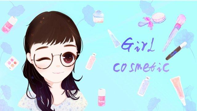 10代の少女の化粧品少女化粧品 イラスト素材 イラスト画像