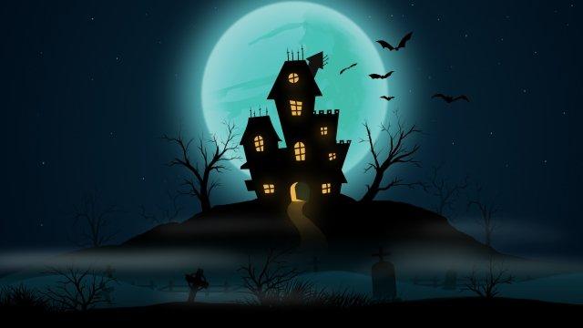 khủng bố halloween nghĩa trang Hình minh họa