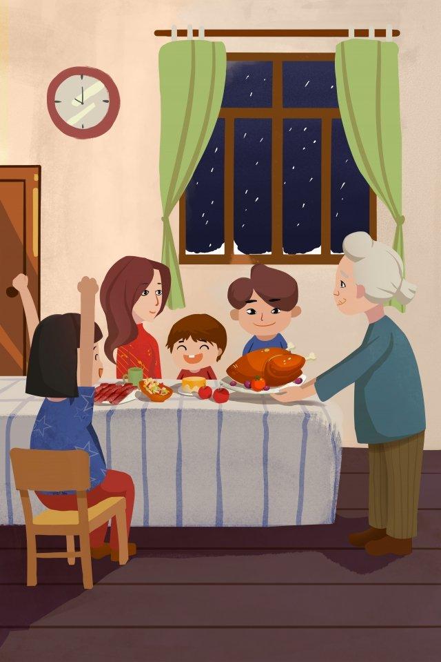 따뜻한 부모에게 감사드립니다 삽화 소재 삽화 이미지