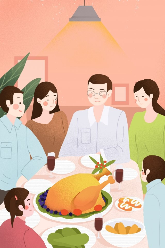 추수 감사절 축제 동창회 삽화 소재