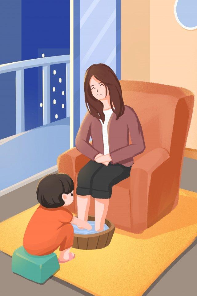 너의 어머니 인형을 위해 너의 발을 따뜻하게 씻으 라 삽화 소재