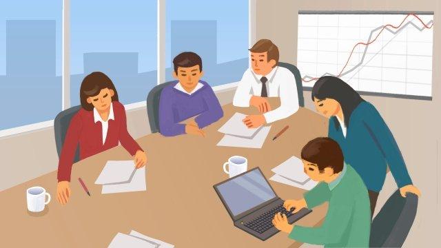 spotkanie firmowe omawia obraz llustration obraz ilustracja