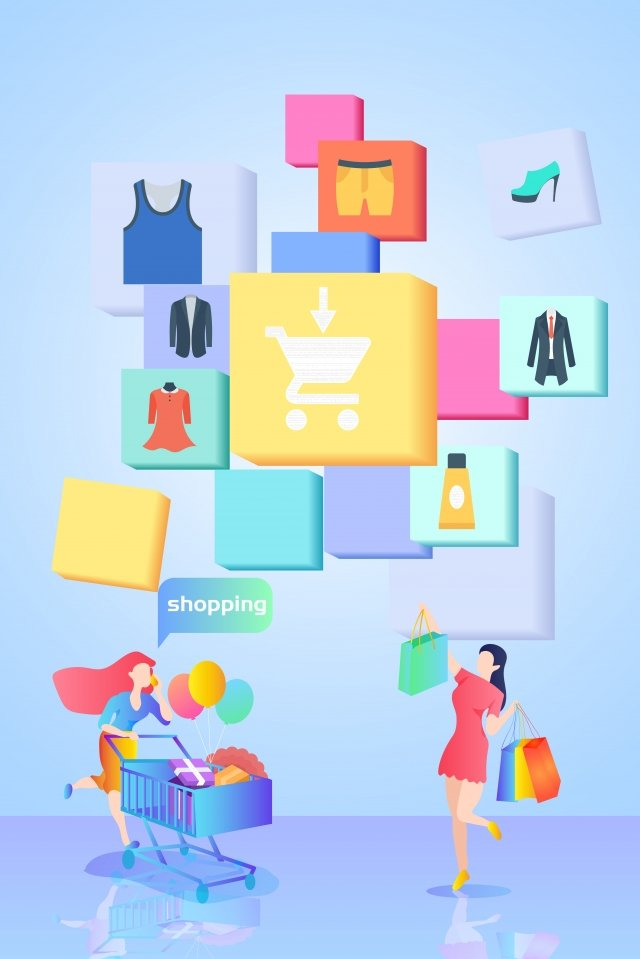 the internet illustration female commodity llustration image