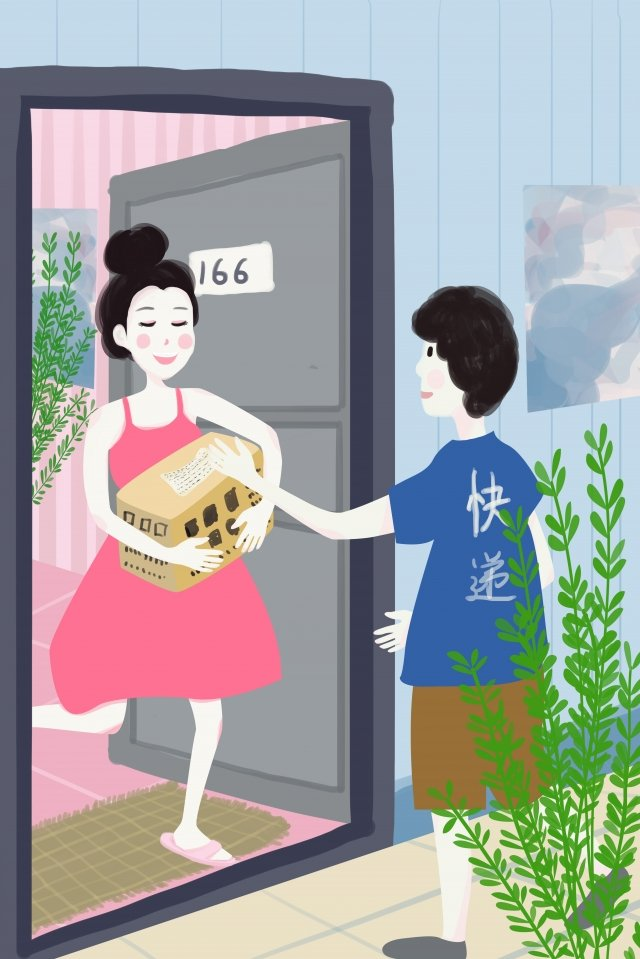 the life of one person receiving express illustration express delivery llustration image illustration image