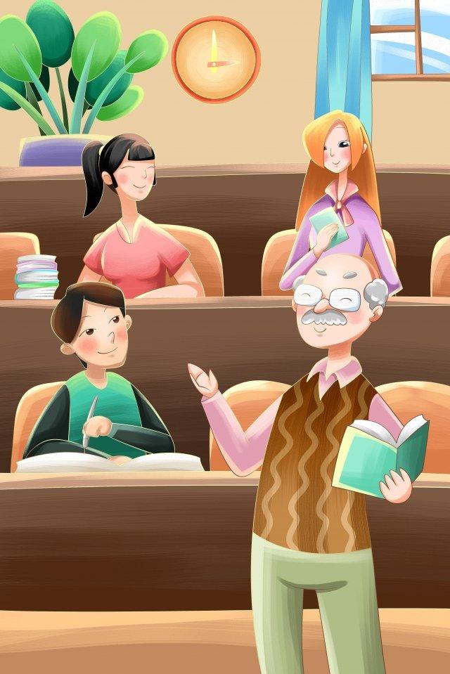 lớp học đại học mùa giáo viên Hình minh họa