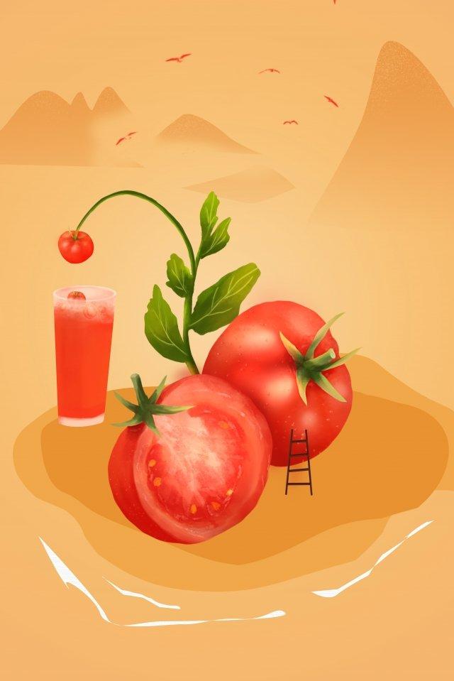 トマトフルーツグリーン夏 イラスト素材
