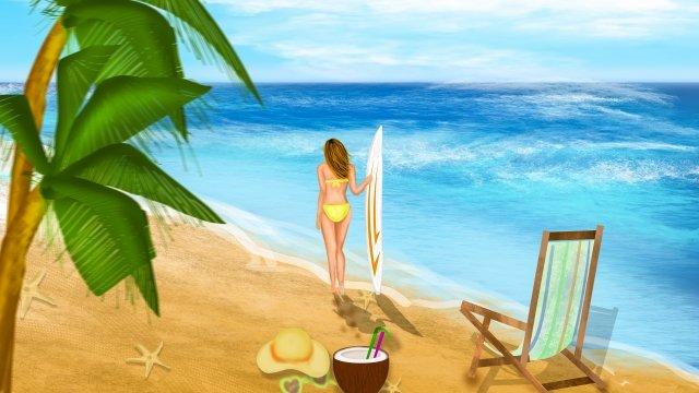 観光真夏の休暇海辺 イラスト素材