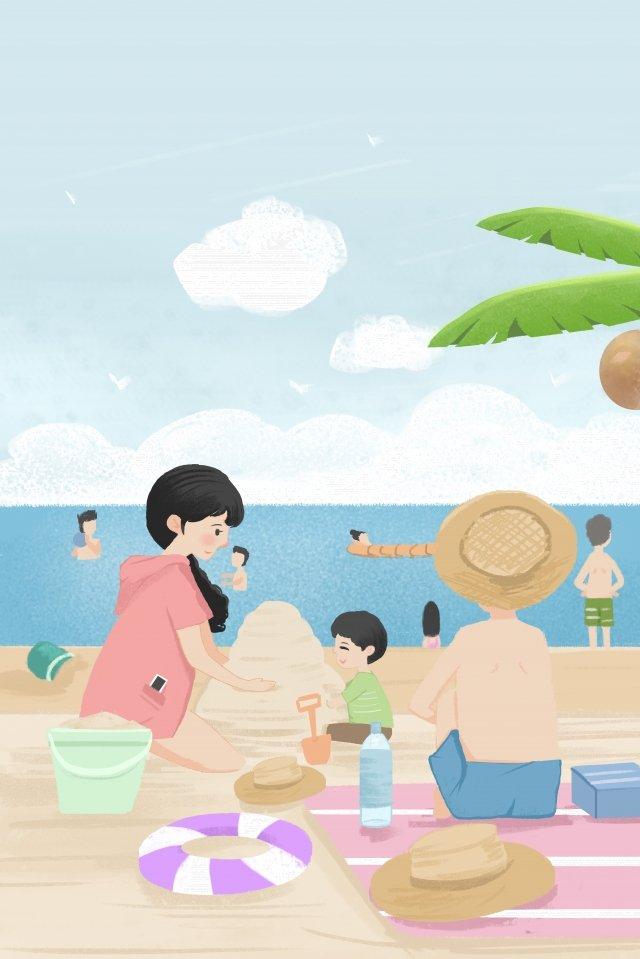 旅遊度假長假 插畫素材 插畫圖片