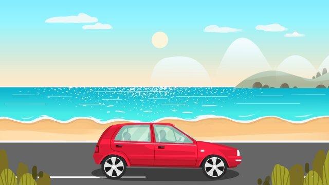 旅遊旅行度假旅行 插畫素材