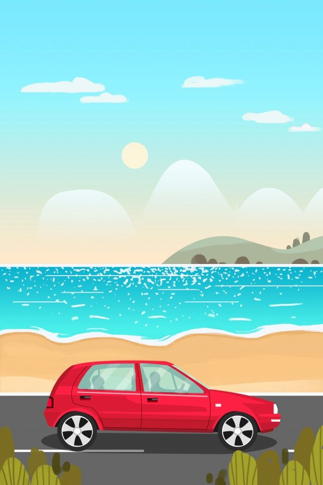 tourism travel holiday travel, Long Vacation, Vacation, Seaside illustration image