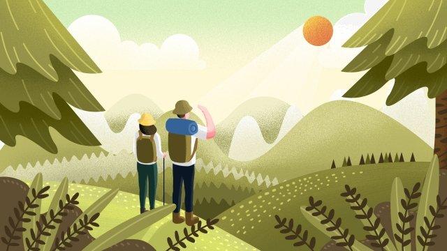 旅遊旅遊長假 插畫素材