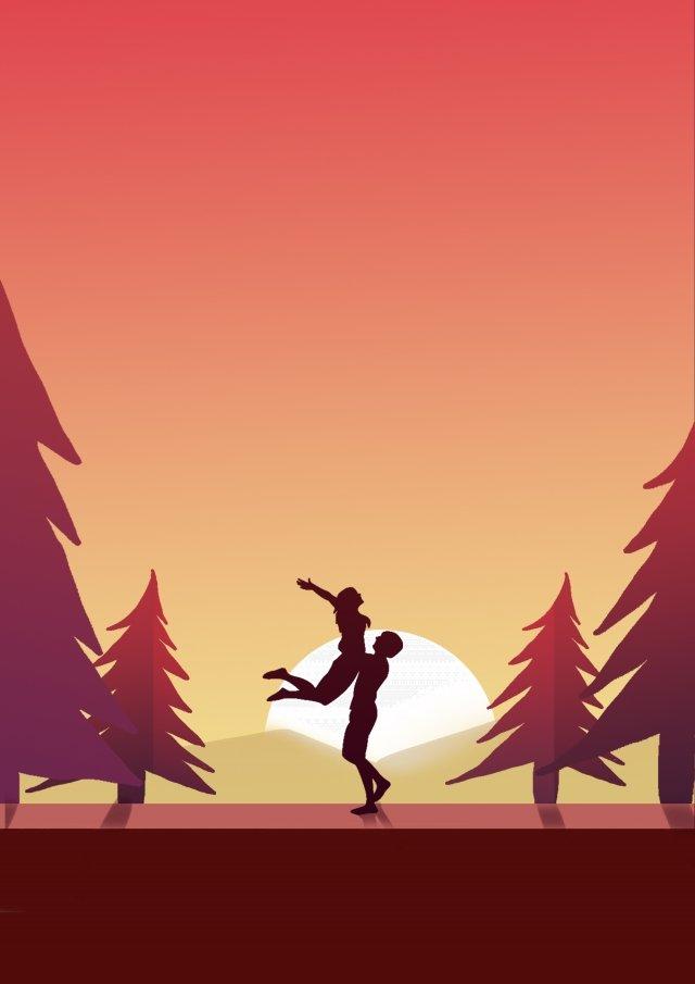 旅行観光アウトドアの森 イラスト素材 イラスト画像