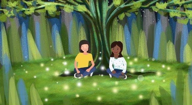 잔디 목초 잔디 삽화 소재 삽화 이미지