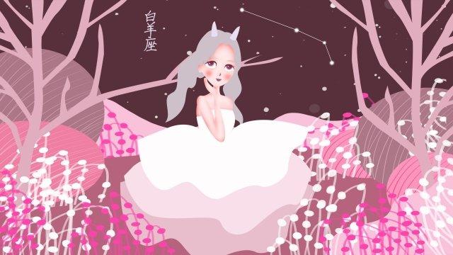 twelve constellations constellation aries starry sky llustration image illustration image