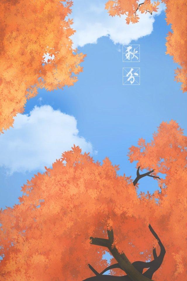 二十四節氣秋季四季 插畫素材