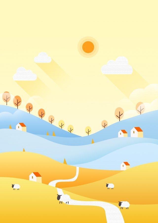 新鮮な秋の漫画の24の太陽用語の始まり イラスト素材