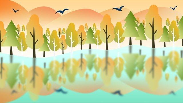 24秋の秋の秋の秋の色の用語の始まり イラストレーション画像