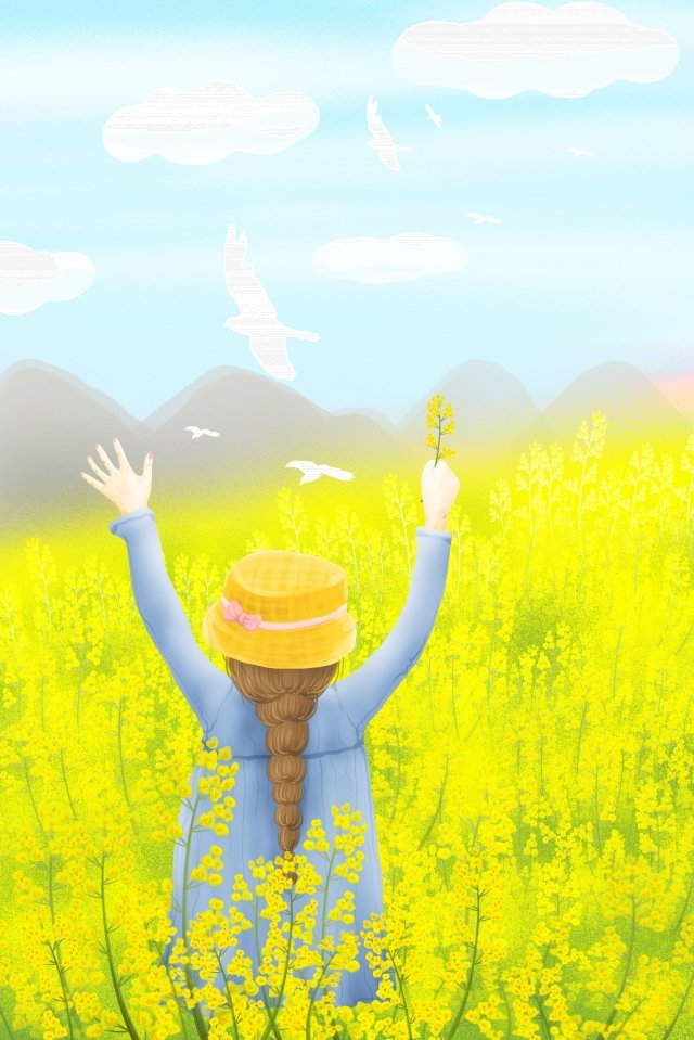 24の太陽用語の春のイラストの美しい始まり イラスト素材 イラスト画像