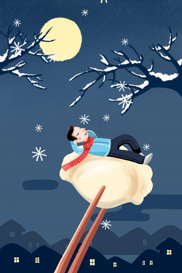 冬の24の太陽用語冬の用語の始まり イラスト素材 イラスト画像