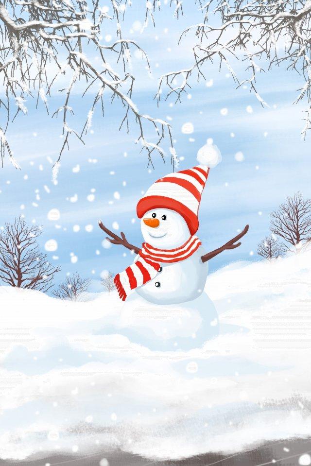 冬の24の太陽用語の初めは帽子のスカーフを着用 イラスト素材