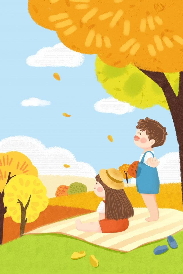 twenty-four solar terms fall autumn autumn, Autumnal, Outing, Autumn Tour illustration image