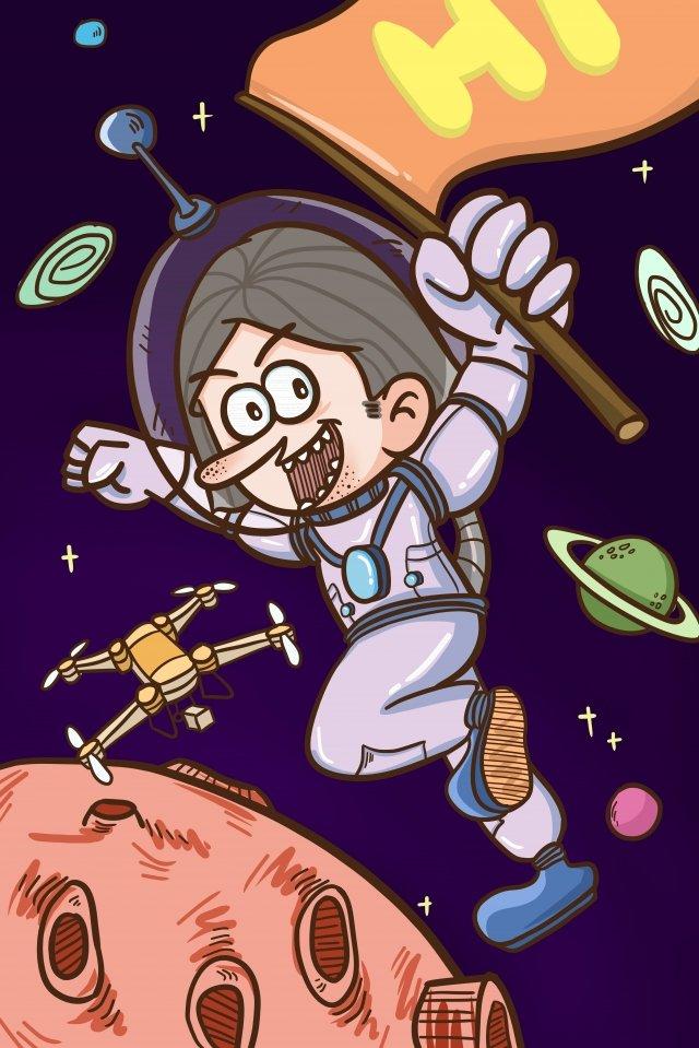 вселенная астронавт аэрофотосъемка планета Ресурсы иллюстрации