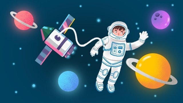universe outer space sky astronaut llustration image