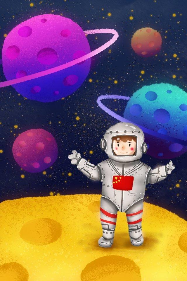 Astronot menjelajah planet alam semesta Alam semesta Planet Angkasawan Galaxy Bulan Mercury Musytari Putih Teknologi Angkasawan Pendaratan Kuning Ungu Biru Langit berbintang BintangBerbintang  Bintang  Alam PNG Dan JPA illustration image