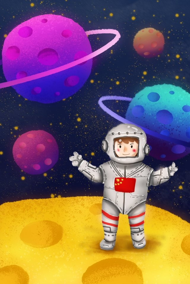 universe planet astronaut galaxy llustration image