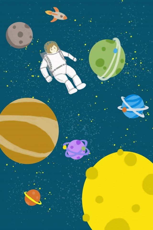 вселенная планета рисованной иллюстрации огромная вселенная Ресурсы иллюстрации Иллюстрация изображения