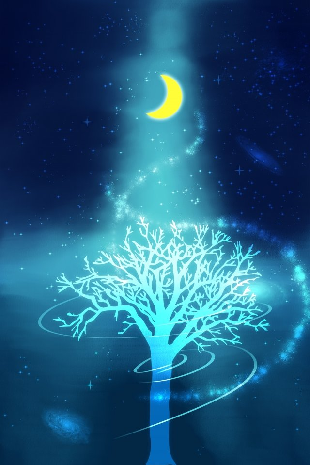 universe starry sky dream scenes llustration image