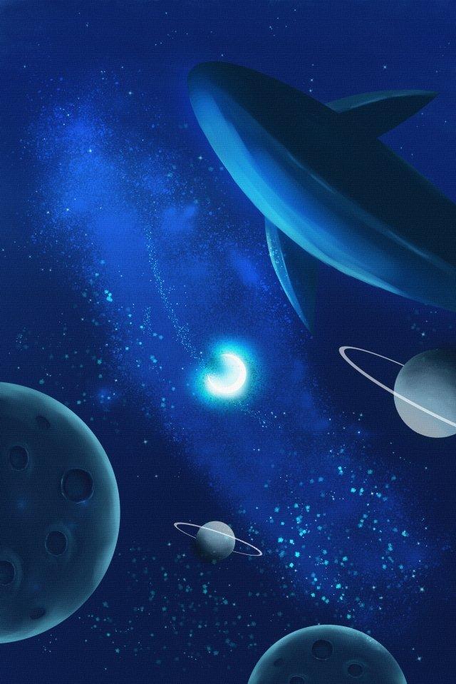 universe starry sky illustration desenho de mão pura Material de ilustração