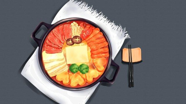 городская кухня армия горячий горшок горячий горшок пряный горячий горшок Ресурсы иллюстрации Иллюстрация изображения