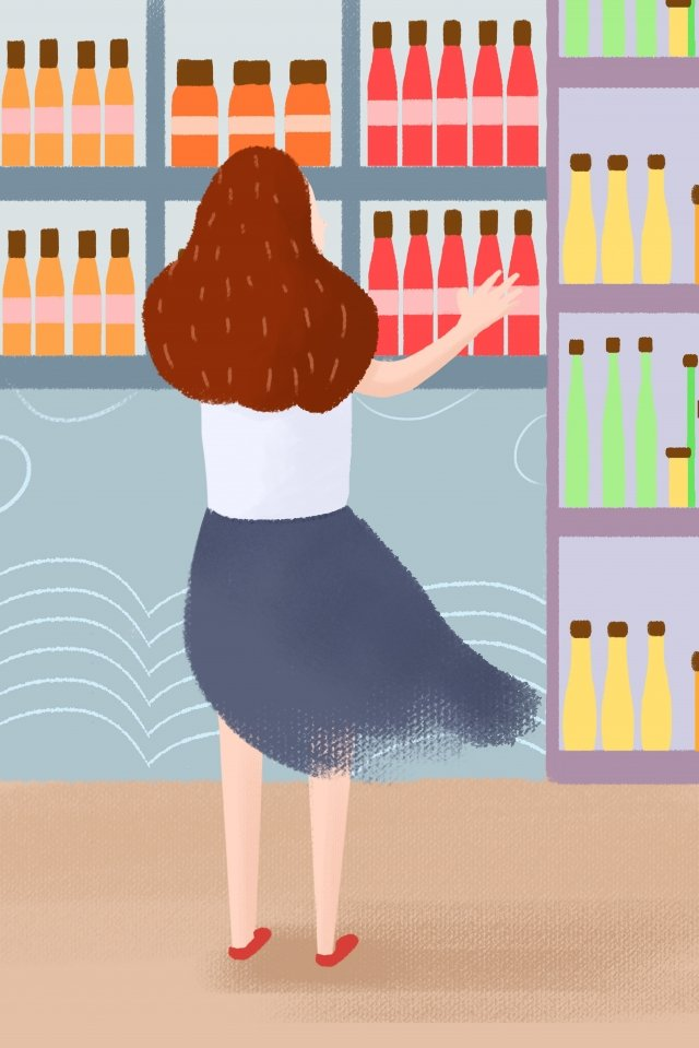 urban life hand drawn illustration beverage shop drink illustration image