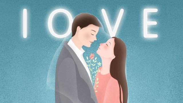 valentines day couple beautiful embrace, Embracing, Valentines Day, Couple illustration image