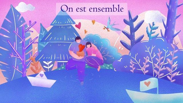 valentines day couple lover flower llustration image illustration image