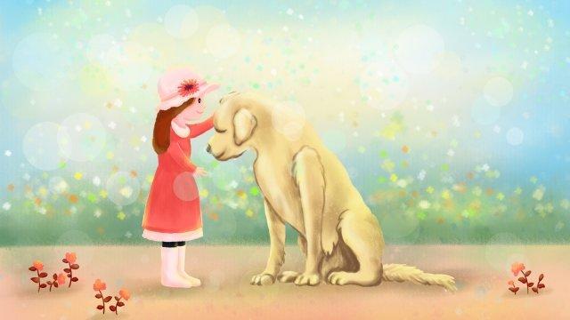 バレンタインデー型破りなカップルの女の子犬 イラストレーション画像 イラスト画像