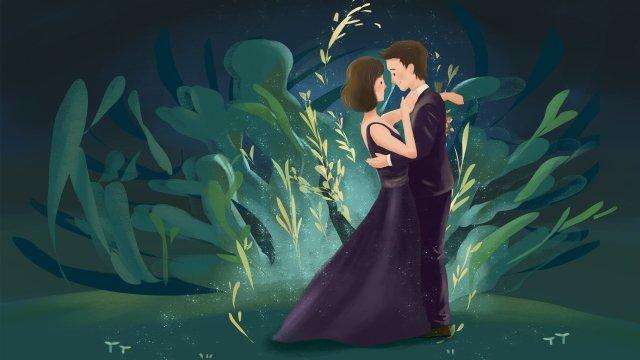 ロマンチックなバレンタインデーのウェディングドレス イラスト素材