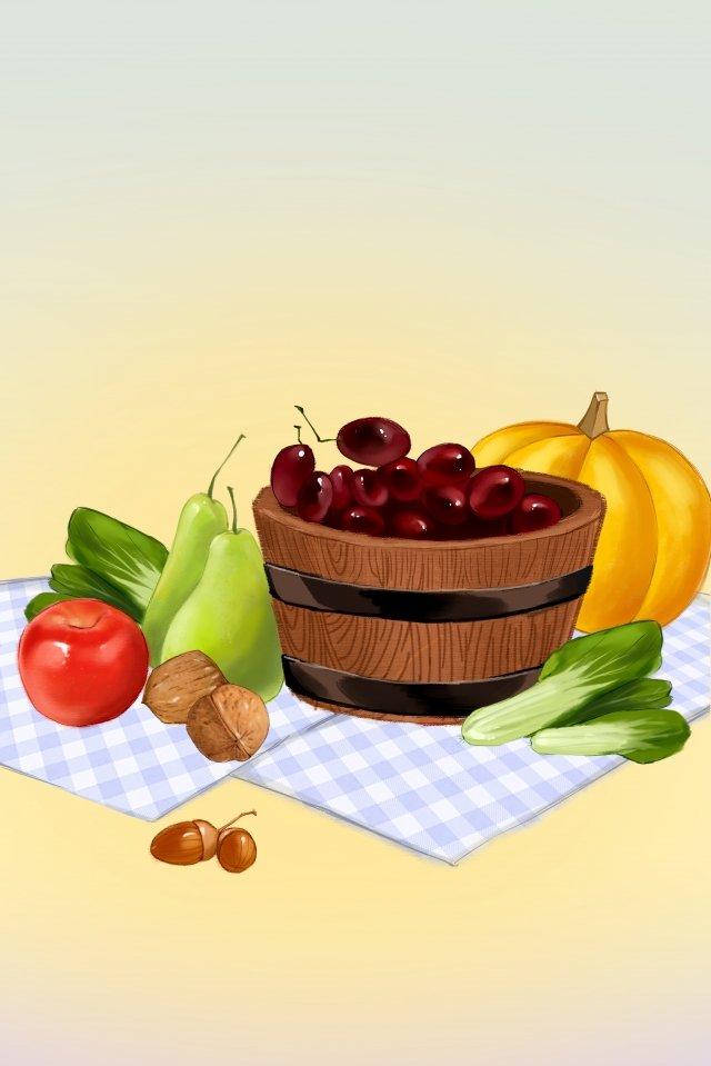 야채 과일 배경 일러스트 레이션 삽화 소재 삽화 이미지