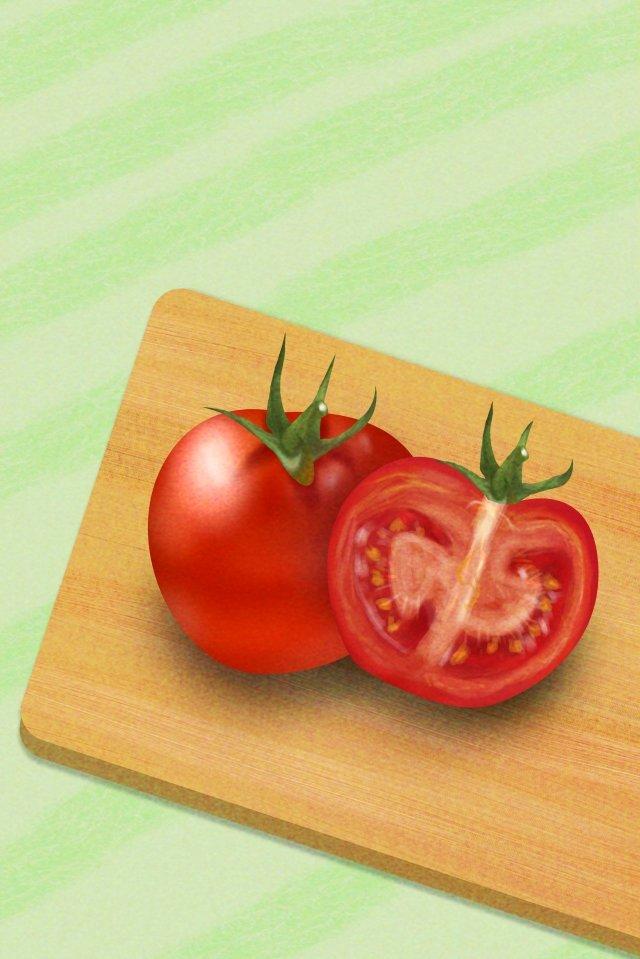 야채 토마토 토마토 음식 삽화 이미지