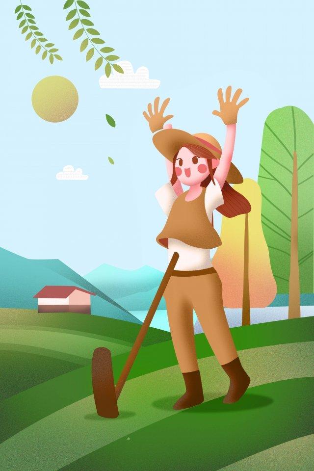 村莊生活農村生活例證清早 插畫素材