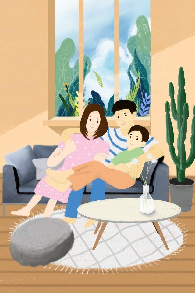 地図付きの暖かい家族の家族手描きポスター記事 暖かい家族 家族 手描き ポスター 記事マップ 3人家族 暖かい テクスチャ 花 窓 暖かい暖かい家族  家族  手描き PNGおよびPSD illustration image