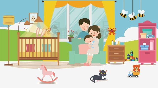 warm home family illustration warm illustration of a family of three baby llustration image illustration image